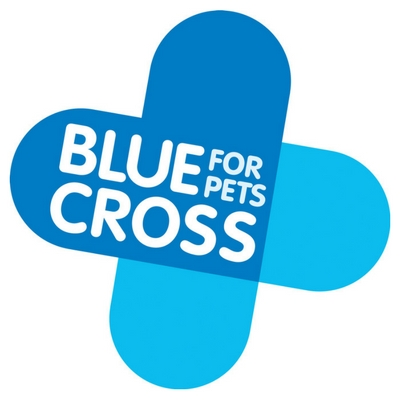 Blue Cross for pets logo with white text on a blue background