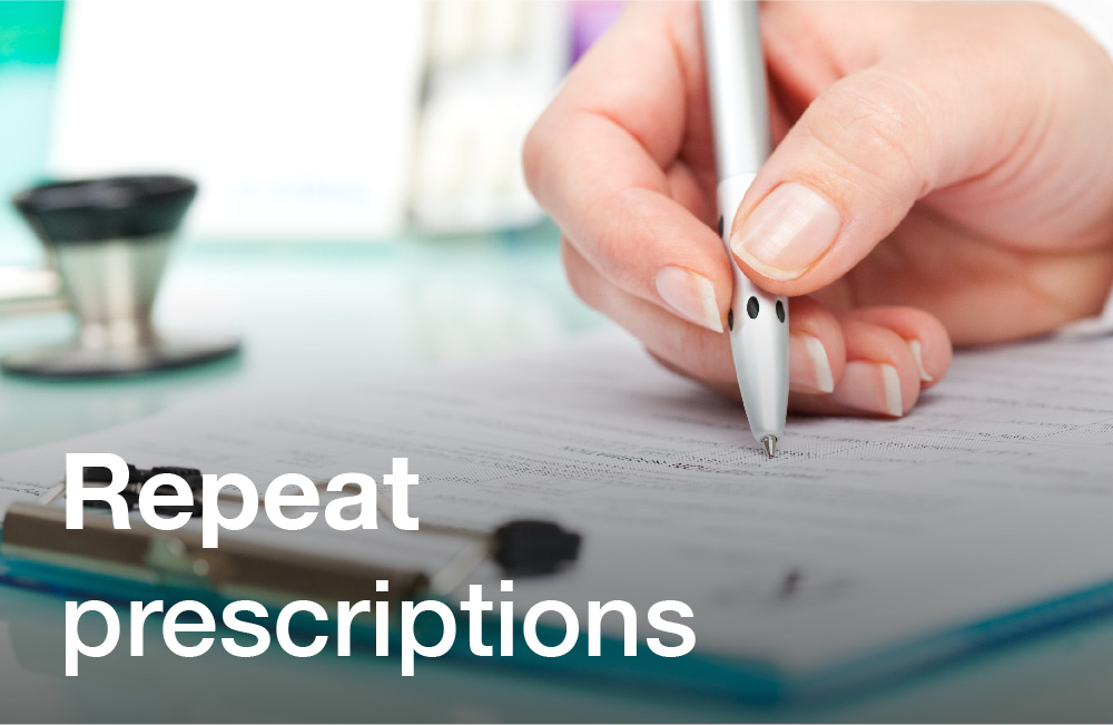Tay Valley Vets Repeat Prescriptions services graphic. Person looking at a checklist